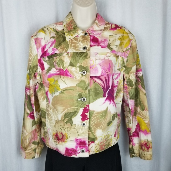 Caribbean Joe Jackets & Blazers - Caribbean Joe jacket size M pink green white